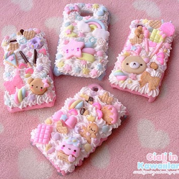 Decoden case shell for Iphone 6 plus  and Galaxy Note 2 - 3 - 4 kawaii and delicious