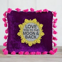 Love  You  To  The  Moon  Crochet  Pillow  From  Natural  Life