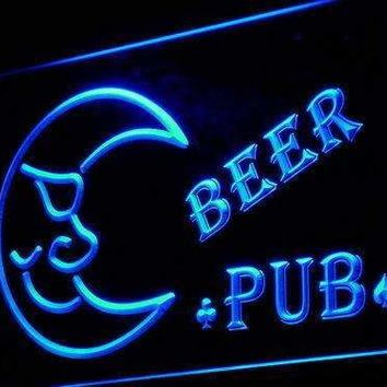 Blue Moon Beer Pub LED Neon Light Sign