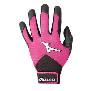 ONETOW Mizuno MVP Batting Gloves T-Ball - Pink