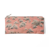 Landscape Pouch - Nevada, Valley of Fire. Spring Printed Make Up Bag and Pencil Pouch, Back to School