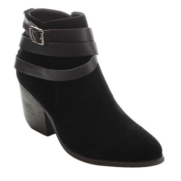 MI.IM Tess-03 Women's Criss Cross Strappy Chunky Ankle Booties | Overstock.com Shopping - The Best Deals on Booties