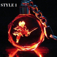 Dragon Ball Dragonball Z Crystal Led Key Chain