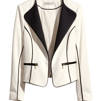 H&M - Jersey Jacket - Natural white - Ladies