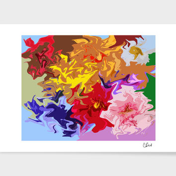 «Floralness» Art Print by Casey Bell - Exclusive Edition from $24.9 | Curioos