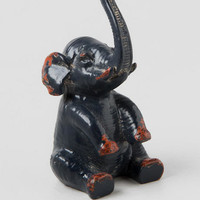 Blue Elephant Ring Holder