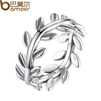 New Collection Authentic Laurel Wreath Laurel Leaves Ring 100% Fine 925 Sterling Silver Compatible with Pandora Jewelry A7156