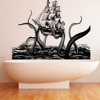 Vinyl Wall Decal Sticker Octopus Attack #5345