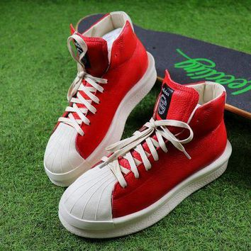 ONETOW Sale Adidas x Rick Owens Mastodon Pro Shoes Red / White Sneaker