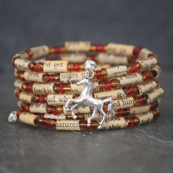 The Red Pony Book Bead Charm Bracelet