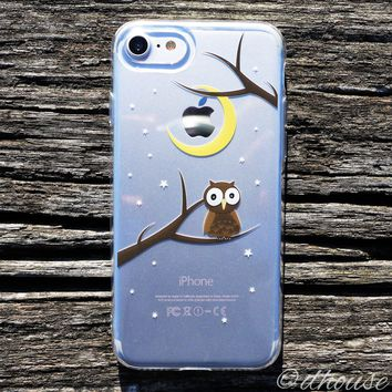MADE IN JAPAN Soft Clear Case - Cute Owl for iPhone 7