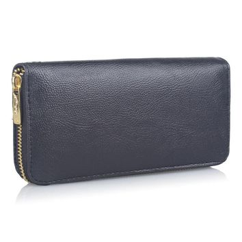 High Capacity Fashion Brand Women Wallets Long PU Leather Female Designer Zipper Clutch Coin Purse Ladies Wristlet Bag Black Red
