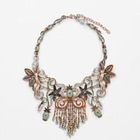 FLOWERS, BIRDS AND PINEAPPLE NECKLACE - SPRING BLOOM-WOMAN | ZARA United Kingdom