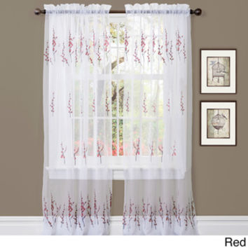 Lush Decor Jacey 84-inch Sheer Curtain Panel Pair