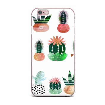 "Bruxamagica ""Cactus"" White Green Illustration iPhone Case"