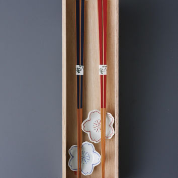 Chopstick with rest (Set of 2)