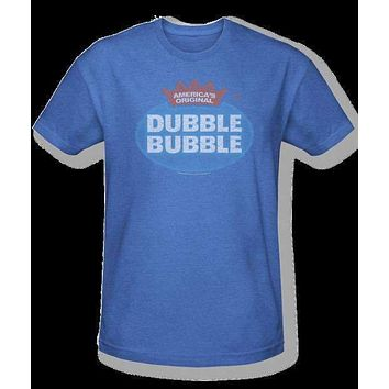 Mens Dubble Bubble Logo Retro Tee Shirt in Blue