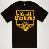 Famous Stars & Straps Guzzlin Mens T-Shirt Black  In Sizes