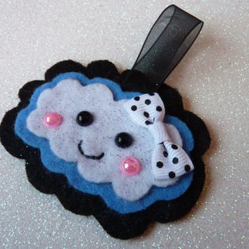 Cute Happy Cloud Kawaii Charm Keychain Hanging Felt
