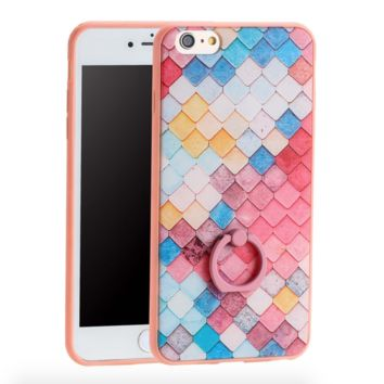 Pretty Pale Candy Color iPhone Case - 6 / 7 with a diamond square design and handle