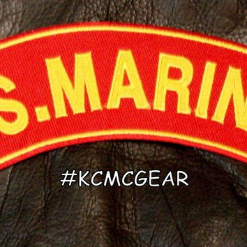 US MARINES CORPS PATCH ROCKER MARINE PATCHES FOR VEST JACKET NEW