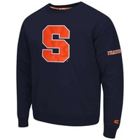 Syracuse Orange Navy Blue Zone Crewneck Sweatshirt