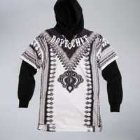 Chef -s4 Dashiki white & tattoo hoodie