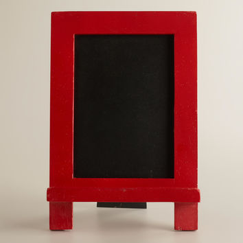 Red Mini Easel Chalkboard - World Market