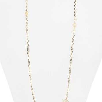 Tory Burch 'Rosary' Long Faux Pearl Link Necklace | Nordstrom