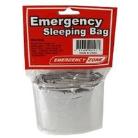 Emergency Sleeping Bag, Survival Bag, Emergency Zone Brand, Reflective Blanket, 1, 5 and 10 Packs Available (1 Pack)