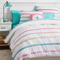 Rainbow Ribbon Duvet Cover + Sham