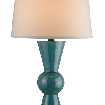 Currey Company Upbeat Table Lamp, Teal