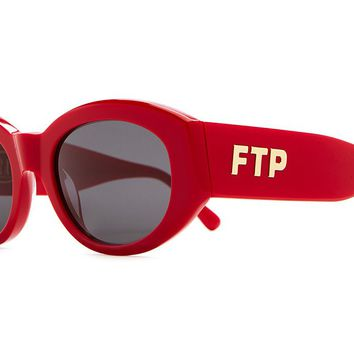 The FTP - Gloss Red Acetate - w/ Grey CR-39 Lenses - Sunglasses