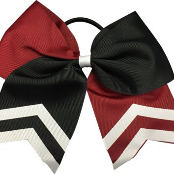 Cheer Hair Bow- Maroon