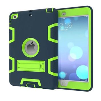 New 3D For Apple iPad Mini 2 3 Retina Kids Safe Armor Shockproof Heavy Duty Silicone Hard For ipad mini 1 2 3 Case Cover