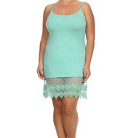 Plus Size Long Lace Cami