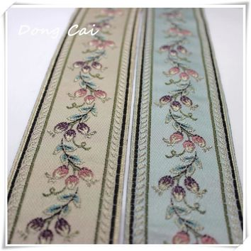 5yards/lot Width 6CM Chinese style jacquard webbing Eco-Friendly Home Textile Garment ribbon Sewing Handmade DIY Free shipping