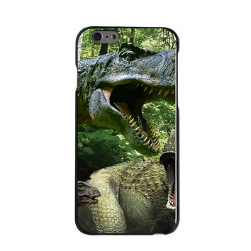 DistinctInk® Hard Plastic Snap-On Case for Apple iPhone - T-Rex Dinosaurs Raptor