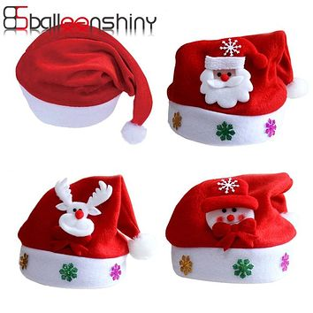 BalleenShiny Hat Baby Christmas Santa Claus Cap Kids Hat Newborn Photography Girls Boy Winter For 2-5 years