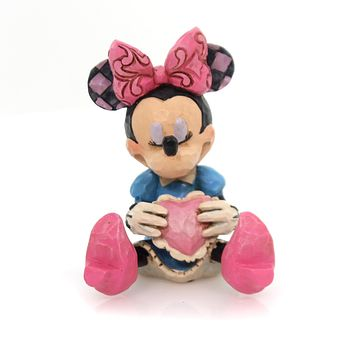 Jim Shore MINNIE MINI FIGURINE Polyresin Mouse Heart Disney 4054285