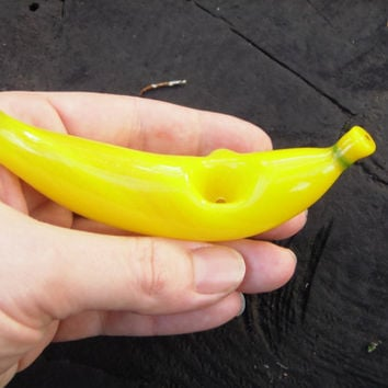 Glass Pipe Banana by Michael Sorenson by reincarnationsbyK on Etsy
