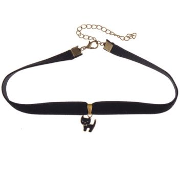 Kitty Pendant Choker