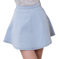LIGHT DENIM SKIRT