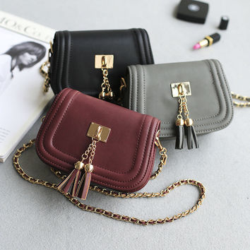 Korean Tassels Stylish Vintage Chain One Shoulder Bags Pendant [4915826180]