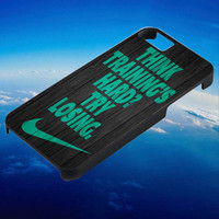 Mint nike quote on wood for iPhone, iPod, Samsung Galaxy, HTC One, Nexus **