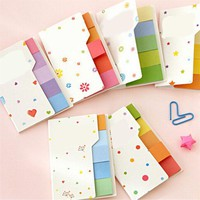 N Times Sticker Baby Sticky Toy Learning Writting Cute Rainbow Colored Sticky Notes Pad Note Bookmark Marker