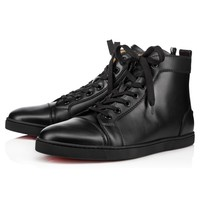 Bip Bip Mens Flat Black Leather