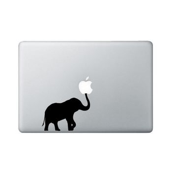 Elephant Macbook Decal - Elephant Laptop Decal - Trunk Up Decal