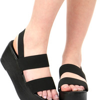 BLACK HOME SLICE SANDAL