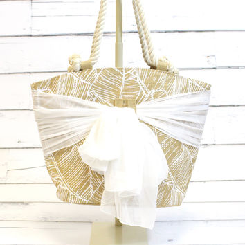 Tropical Sarong Along Tote {Palm}